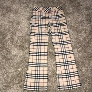 BURBERRY TARTAN PLAID PANTS Size 10